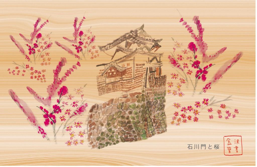 北村さんの金沢城の金沢葉書