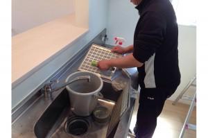 台所の水回りクリーニング