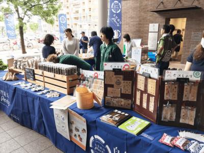近江町にて自社商品をイベント販売